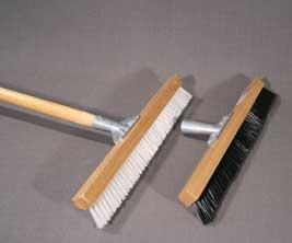 White Pile Brush Carpet Rake