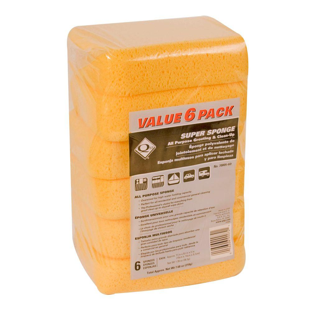 Extra Large Grouting Cleaning And Washing Sponge 6 Pack