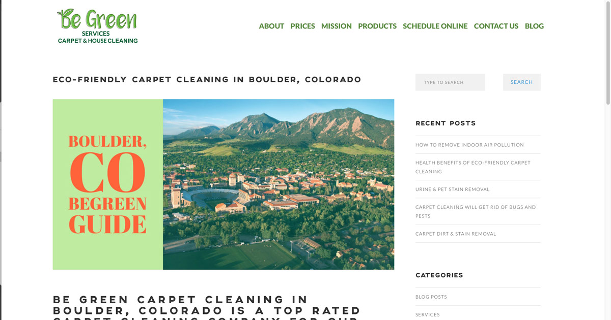 Carpet Cleaning Boulder Co House Cleaning Be Green