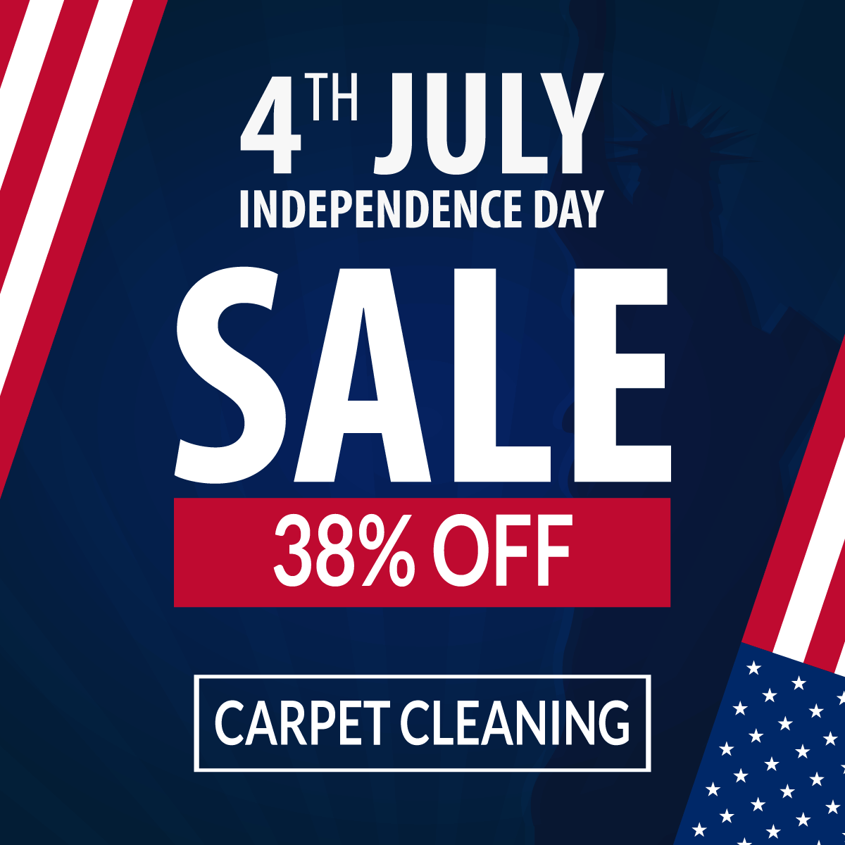 4th Of July Carpet Cleaning Special (SOLD OUT) - Be Green ...