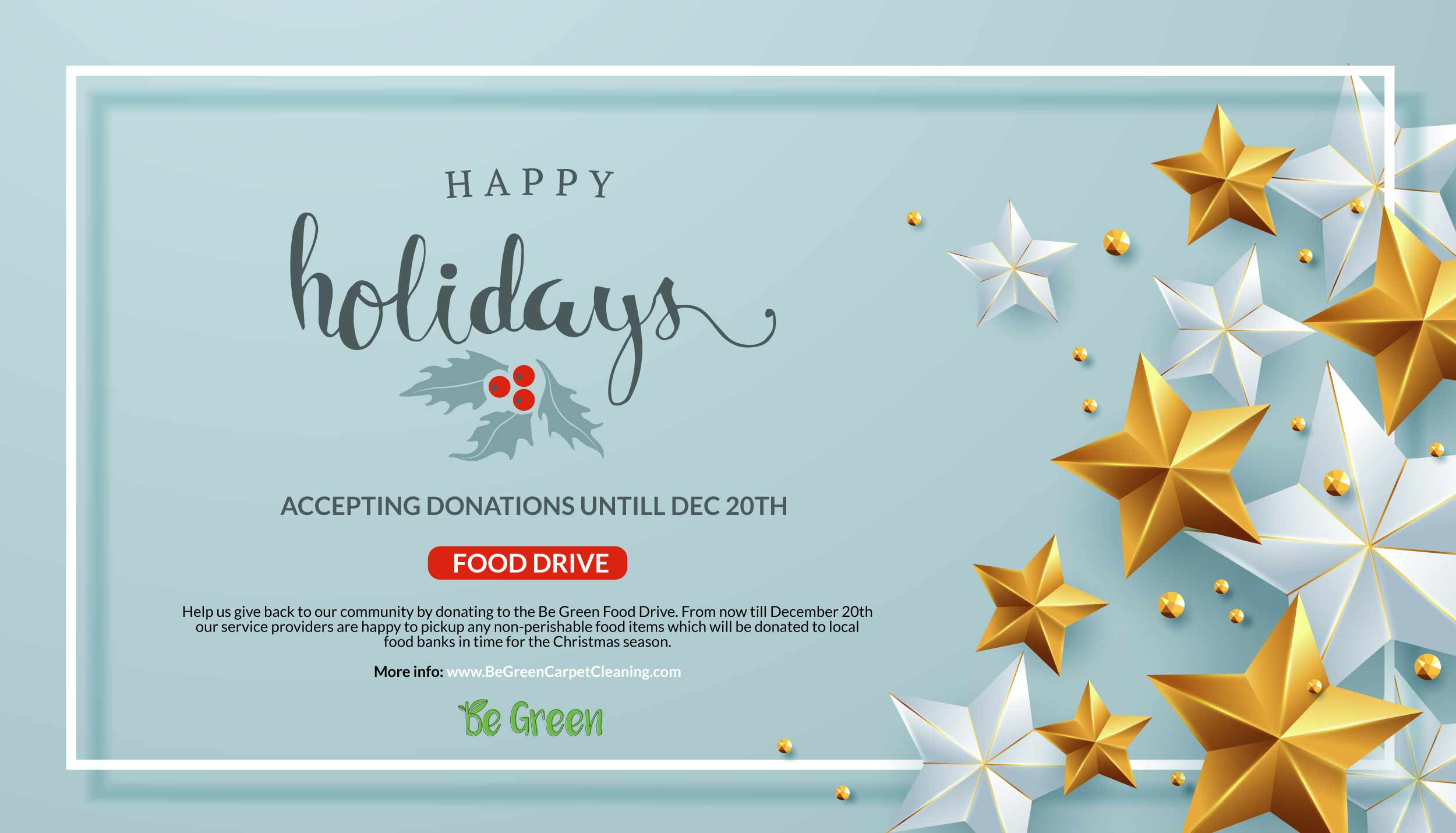 Be Green Holiday Food Drive